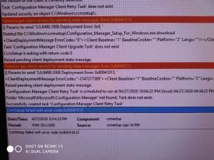 IMG 20200427 WA0003 - How To Manage Devices Community Forum - Welcome to the world of Device Management! This is community build by Device Management Admins for Device Management Admins❤️ Ask your questions!! We are here to help you! - SCCM client installation failure