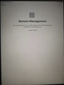 IMG 20200514 010719 - How To Manage Devices Community Forum - Welcome to the world of Device Management! This is community build by Device Management Admins for Device Management Admins❤️ Ask your questions!! We are here to help you! - Unable to enroll a device error invalid profile on ipad- dep device