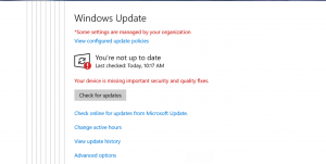 Windows update Warning - How To Manage Devices Community Forum - Welcome to the world of Device Management! This is community build by Device Management Admins for Device Management Admins❤️ Ask your questions!! We are here to help you! - Recently we have see an issue with machines receiving the notifications Windows Update warning at the corner of the taskbar. All machines are handle by SCCM to patch the machines. What could be the cause ?