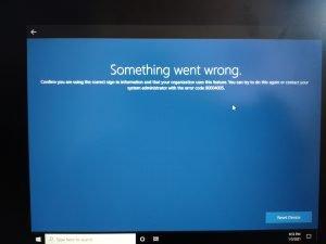 Something went wrong 80004005